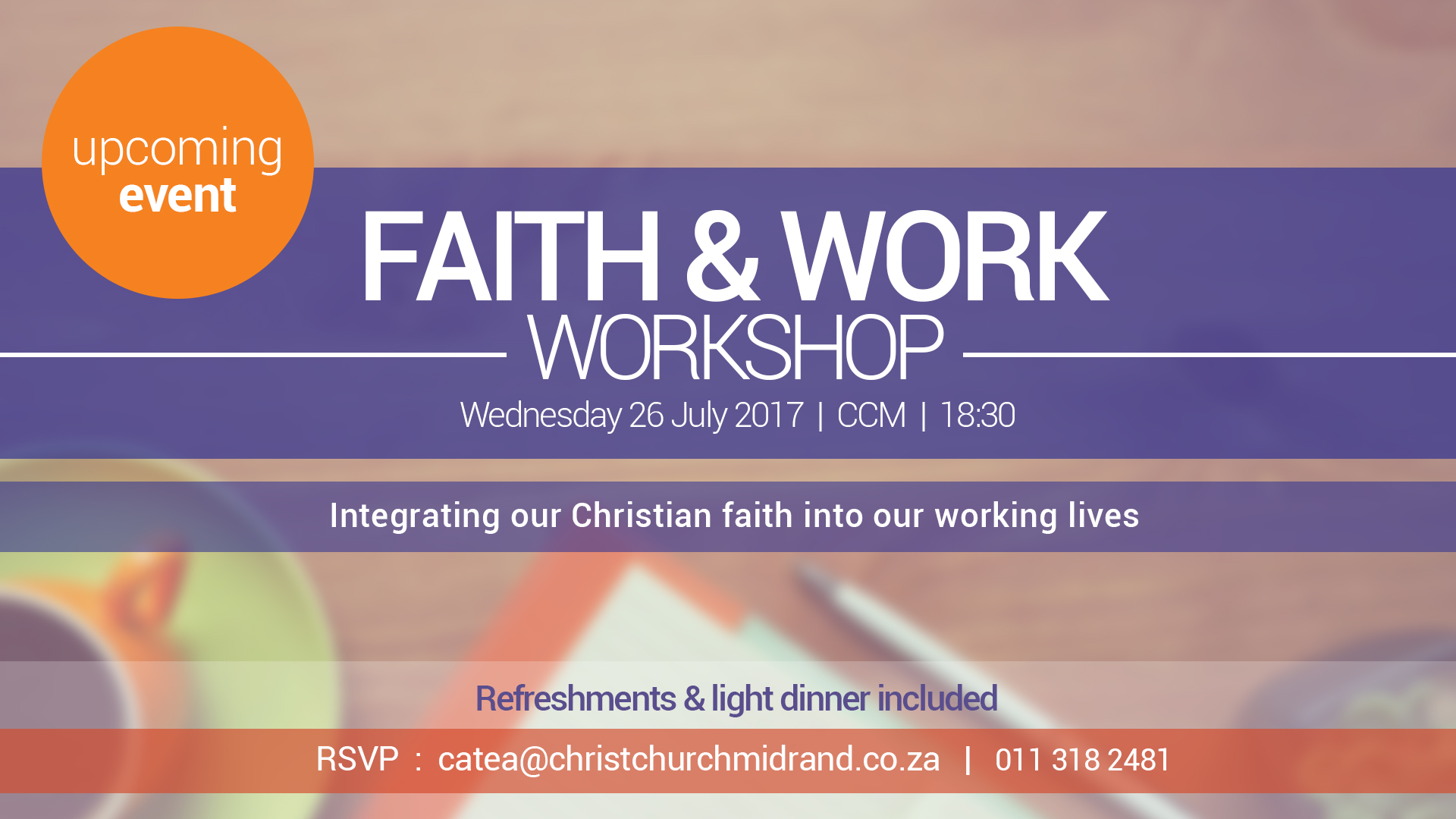 Faith and Work Workshop