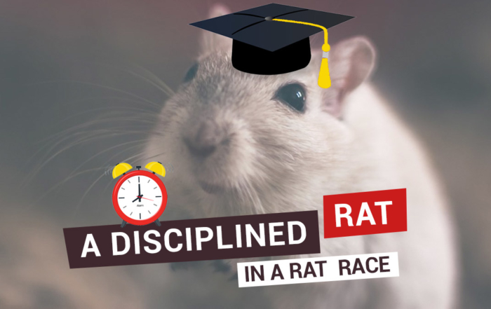A disciplined rat in the rat race