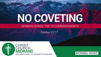 The 10 Commandments - No Coveting - Roydon Frost