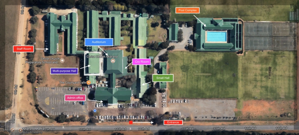 Map of Christ Church Midrand Updated