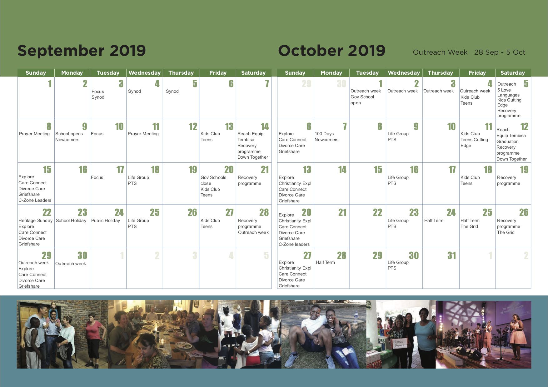 11. CCM calendar 2019 - September and October