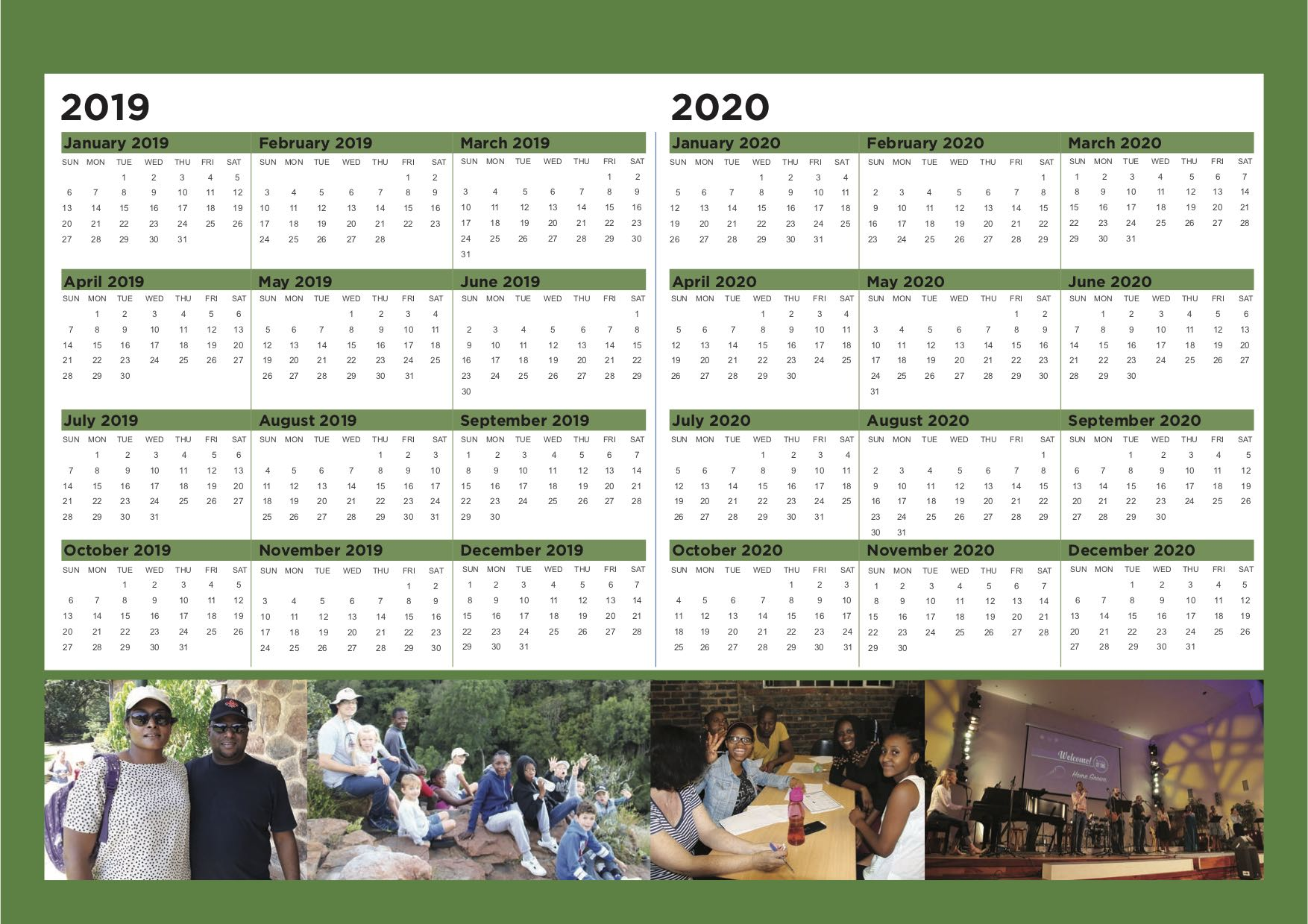 15. CCM calendar 2019 - 2019 and 2020 Overview
