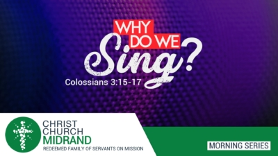 Why Do We Sing – Roydon Frost - Website